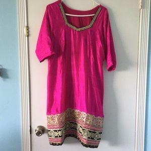 Black & Pink Indian Punjabi Salwar Kameez